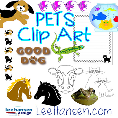 pets animals clip art collection