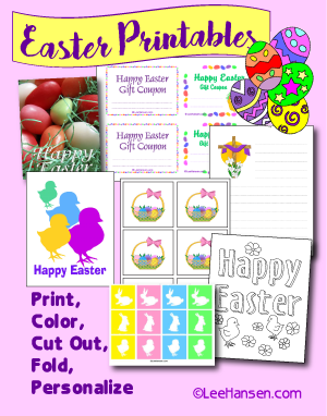 easter printables by lee hansen graphic