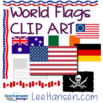 flags clip art collection by leehansen.com