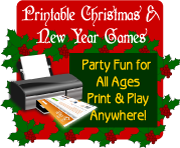 Printable Christmas and New Year Games