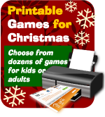 Printable Christmas party games for home, church, classroom or office