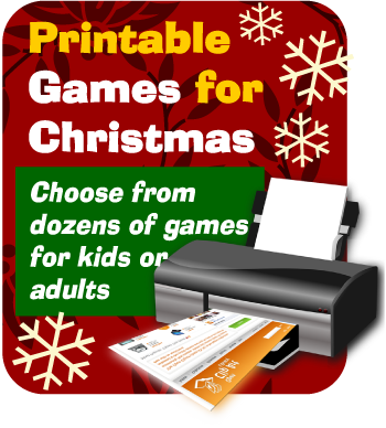 Printable Christmas party games by Python