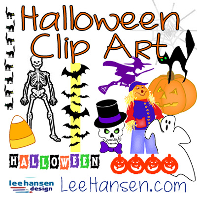 halloween clip art by Lee Hansen design graphics