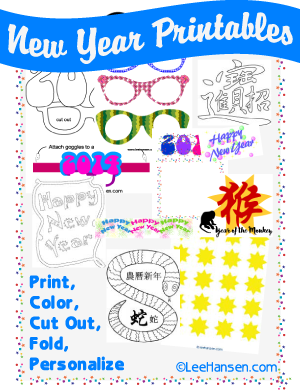 New Year Printables at LeeHansen.com