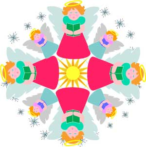 Christmas angel choir mandala design clip art