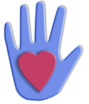 hand with heart graphic