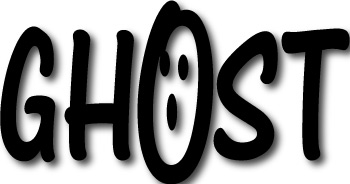 Word  on Word Art   A Scary Ghost Face Hides In This Haunted Halloween Word