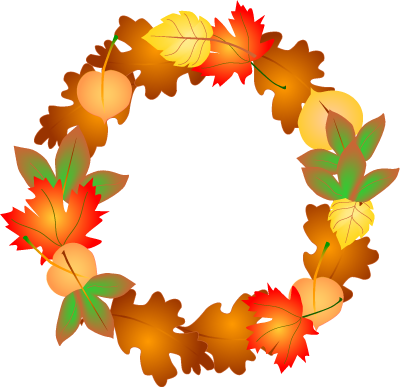 Wreath Clip Art. The outdoor colors are only