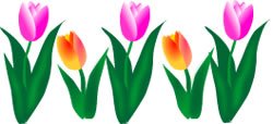 Spring Flowers clip art vector