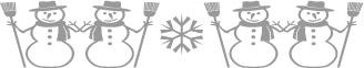 clip art border graphics - horizontal and vertical snowman borders ...
