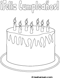 birthday cake feliz cumpleanos cololring page feliz cumpleanos coloring sheet - Feliz Cumpleanos Coloring Pages