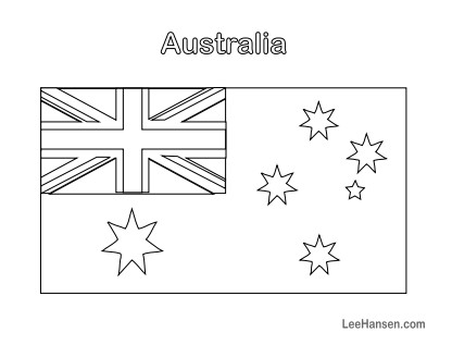 Printable Australia Flag Colouring Page