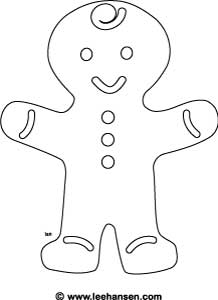 gingerbread boy coloring page - gingerbread boy pattern free patterns