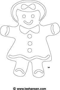 gingerbread girl coloring pages to print on gingerbread images