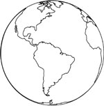 Earth Day planet coloring sheet