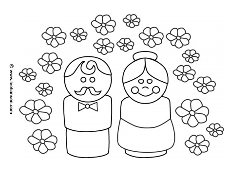 Grandparents Coloring Page Printable