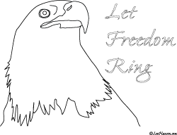 bald eagle coloring page let freedom ring