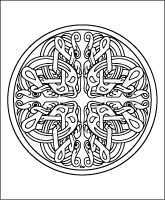 Celtic Mandala adult coloring page
