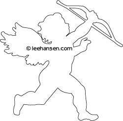 valentine cupid coloring page