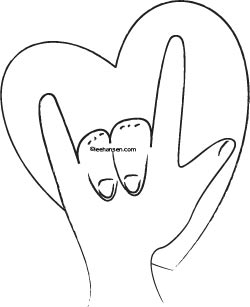 Sign Language Coloring Page I Love You