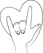 i love you sign language coloring sheet