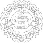 Trick or Treat mandala design template, LeeHansen.com
