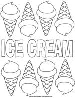 ice cream worksheet poster