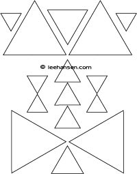 Triangle Shapes Coloring Page Preschool Worksheet