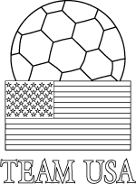 Bon Team USA World Cup Soccer Coloring Page