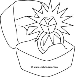 Coloring fun for kids and grownups june 2012 for Wedding coloring pages to print