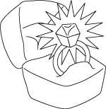 wedding ring coloring page
