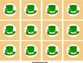st patricks day cupcake toppers irish hats
