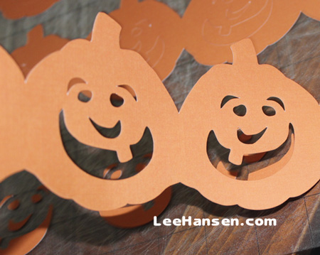 Die cut pumpkin banner paper craft