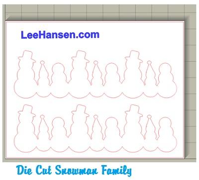 Snowman family garland cut out craft sheet snowman family cut paper template die cut file maxwellsz