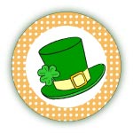 printable st patricks day stickers or cupcake flags