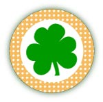 shamrock stickers or cupcake toppers