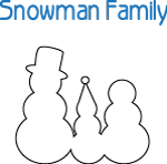 Snowman Family Cut Outs