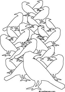 Birds Design Coloring Page for