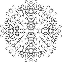snowflake mandala coloring pages. crown mandala coloring ...