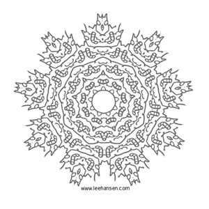 Intricate Mandala Design Line Art Coloring Books For Adults
