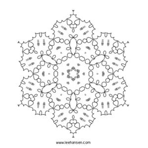 star center mandala coloring page