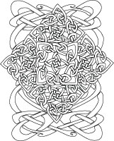 celtic design abstract coloring page printable