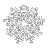 Snowflake coloring page 1