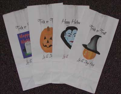 print your own paper bags for halloween or party sacks
