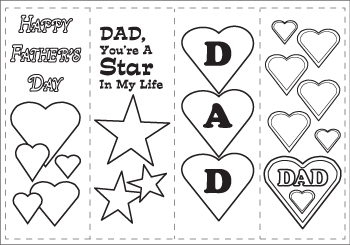photograph relating to Printable Fathers Day Craft referred to as Fathers Working day Printables and Crafts
