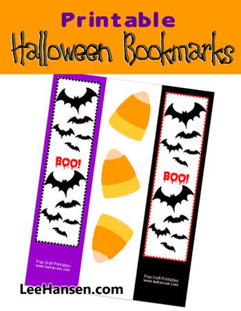 printable halloween bookmark craft sheet leehansencom - Halloween Book Marks