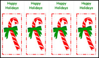 graphic regarding Printable Christmas Bookmarks named Xmas Bookmarks and Present Tags Crafts