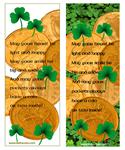 Irish coins and shamrocks printable bookmarks