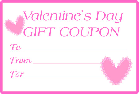 Love Heart For Valentine. Valentine Hearts Love Coupons