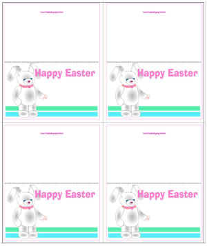 Easter bunny printable gift tags easter rabbit place cards negle Images